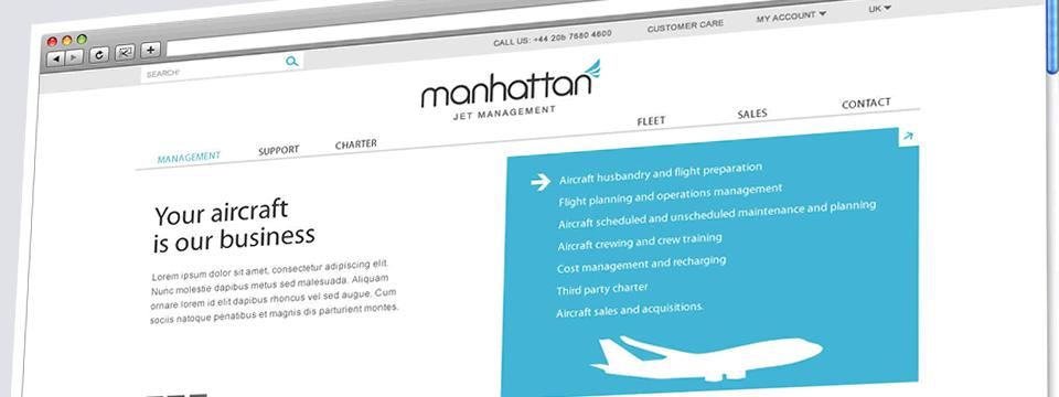 Manhattan Jet Management | Web Design Sheffield