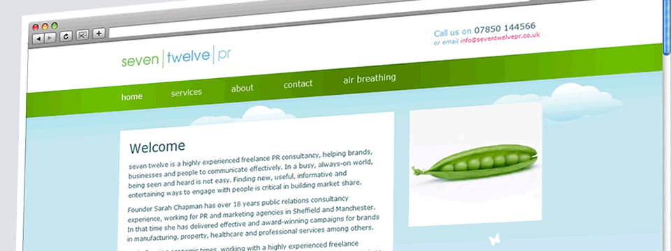 seven twelve PR | Web Design Sheffield